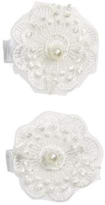 PLH Bows 2-Pack Lace Flower Clips