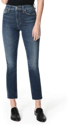 Joe's Jeans The Milla Cut Hem High-Rise Straight-Leg Jeans