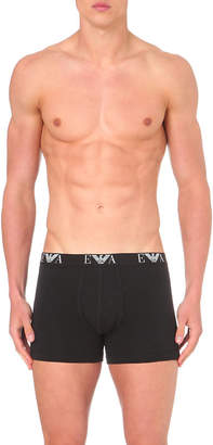 Emporio Armani Logo-detail pack of two stretch-cotton boxers