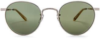 Garrett Leight Wilson M 49 in Silver & Blonde & Semi-Flat Green | FWRD