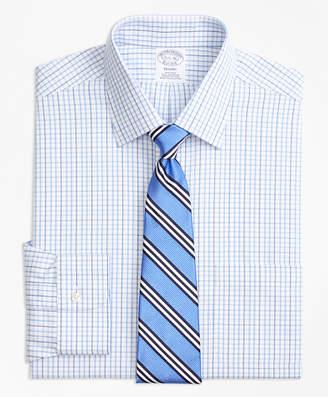 Brooks Brothers Regent Fitted Dress Shirt, Non-Iron Tonal Check Windowpane