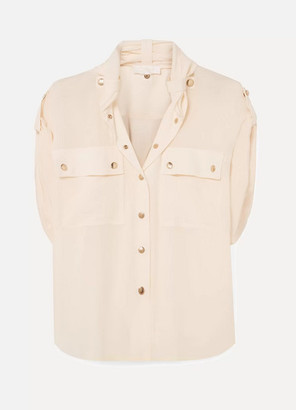 Chloé Silk Crepe De Chine Blouse - Cream