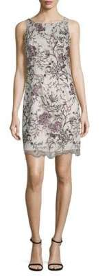 Aidan Mattox Floral Sleeveless Sheath Dress