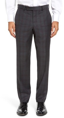 Ted Baker London Jefferson Flat Front Check Wool Trousers $225 thestylecure.com