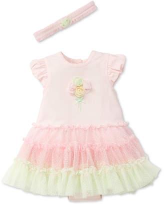 Little Me 2-Pc. Popover Ruffled Bodysuit & Headband Set, Baby Girls