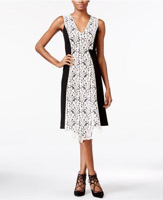 RACHEL Rachel Roy Lace-Trim A-Line Dress $169 thestylecure.com