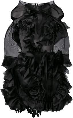Ermanno Scervino ruffles and swirl mini dress