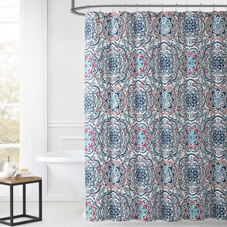 Leila 1888 Mills Multi-color Shower Curtain