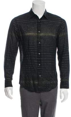 Maison Margiela Semi-Sheer Metallic Shirt