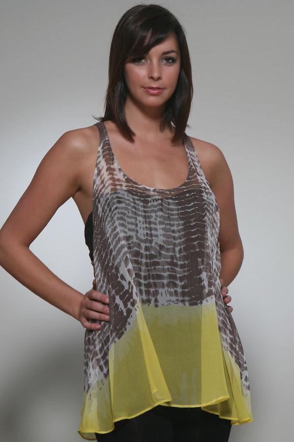 Zoa Scoop Neck Animal Print Tunic