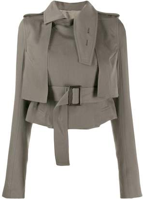 Rick Owens cropped trench-style jacket