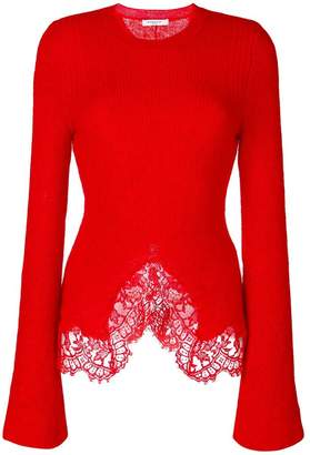 Givenchy lace trim knitted jumper