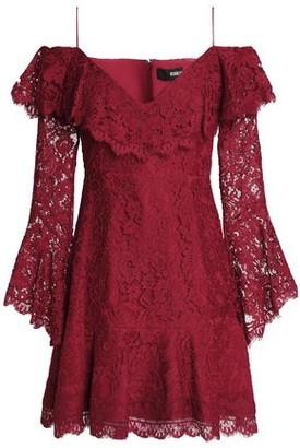 Nicholas Cold-Shoulder Cotton-Blend Corded Lace Mini Dress
