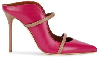 Malone Souliers by Roy Luwolt By Roy Luwolt Maureen 100 Fuchsia Leather Mules