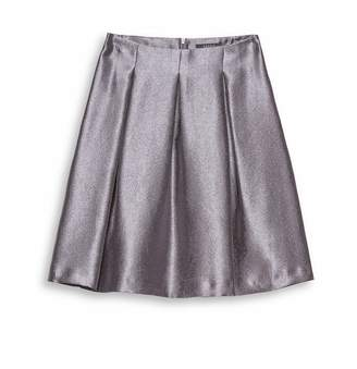 Esprit Metallic Pleated Skirt
