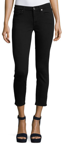 7 For All Mankind 7 For All Mankind Kimmie Cropped Straight-Leg Jeans, B(Air) Black
