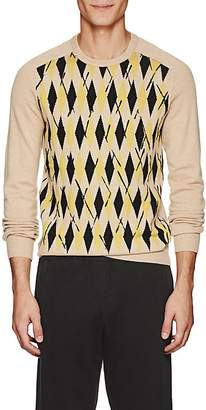 Tomas Maier MEN'S ABSTRACT-ARGYLE CASHMERE SWEATER