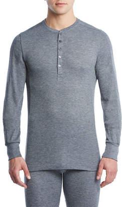 2xist Sport Tech Long John Henley Shirt