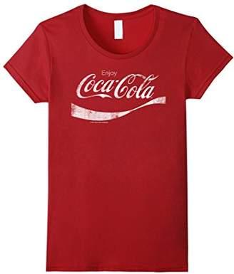 Coca-Cola Vintage White Enjoy Logo Graphic T-Shirt