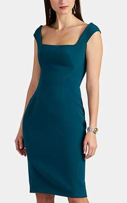 Zac Posen Women's Bonded Crepe Cocktail Dress - Teal