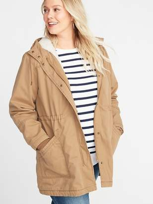 Old Navy Twill Hooded Plus-Size Utility Parka