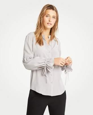 Ann Taylor Tie Sleeve Blouse