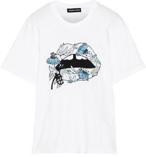 Markus Lupfer Alex Embellished Stretch-Cotton Jersey T-Shirt