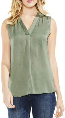 Vince Camuto Textured V-Neck Top