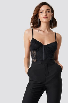 NA-KD Lace Cup Corset Black