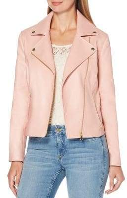 Rafaella Notch Lapel Moto Jacket