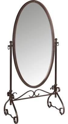Red Barrel Studio Oval Antique Brown Dressing Mirror