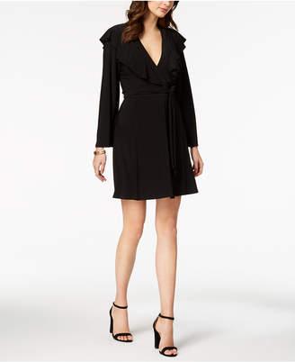 Taylor V-Neck Ruffled Wrap Dress