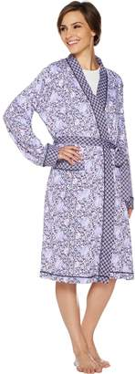 Carole Hochman Floral Fields & Geo Cotton Wrap Robe