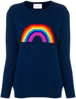 Alberta Ferretti rainbow crew neck jumper