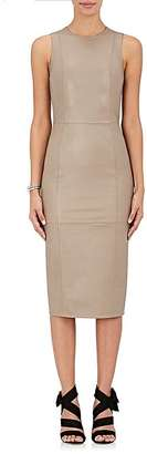 Armani Women's Leather Fitted Sheath Dress-BEIGE, GREY, TAN $4,595 thestylecure.com