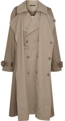 Maison Margiela Layered Cotton-Gabardine Hooded Trench Coat