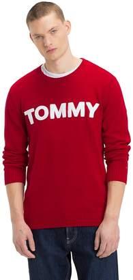 Tommy Hilfiger Contrast Towelling Logo Jumper