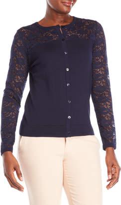 August Silk Lace Sleeve Cardigan