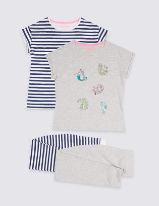 Marks and Spencer 2 Pack Assorted Pyjamas (3-16 Years)