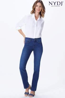 NYDJ Womens Mid Blue Denim Marilyn Straight Leg Jean - Blue