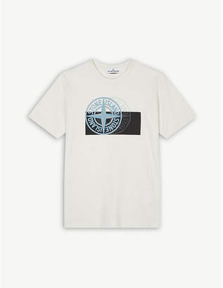 Stone Island Graphic dial print cotton T-shirt 4-14 years