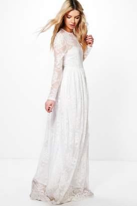 boohoo Boutique Lia Sweetheart Lace Maxi Dress $70 thestylecure.com