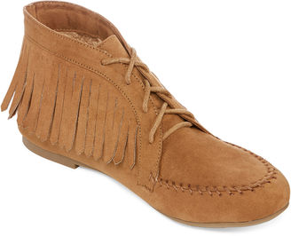 Bamboo Circus-03 Lace-Up Fringe Moccasins $60 thestylecure.com