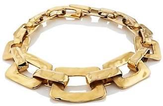 Loren Stazia Women's 1970s Rectangular Link Necklace - Gold