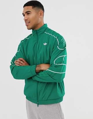 adidas flamestrike track jacket in green