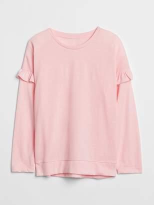 Gap Ruffle Long Sleeve T-Shirt