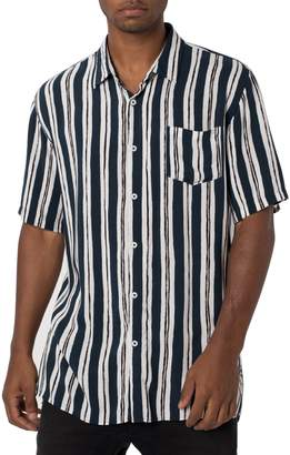 Zanerobe Impression Stripe Rayon Shirt