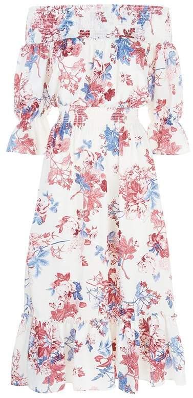 Misa Los Angeles Evangelie Floral Off-The-Shoulder Dress