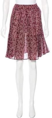Marni Printed Knee-Length Skirt Printed Knee-Length Skirt