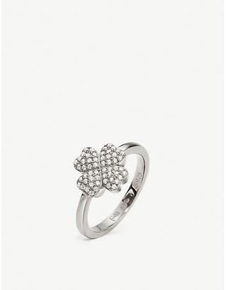 Folli Follie Heart4Heart 925 rhodium-plated clover ring